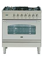 ILVE NOSTALGIE系列 天然气-电磁感应烤箱灶 欧洲纯手工制作